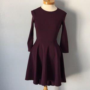 Express Purple High Low 3/4 Sleeve Dress